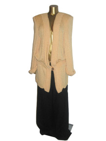 Vintage Norma Walters Rare  Avant Garde Long Heavy Shoulder Pads Slouchy Knit Sweater Jacket