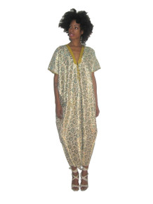 Vintage Rare Multicolor Metallic Gold Lurex Lame Floral Embroidery Riboon Trim Tie Neck Ethnic Multi-functional Long Caftan Dress Cover-Up Jacket