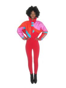 Vintage Roffe Vibrant Multi-Color Color Block Ski Suit Jumpsuit