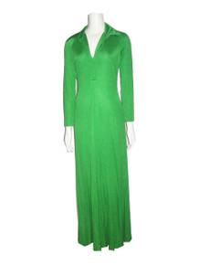 Vintage Absolutely Stunning Green Mod Disco Stretch Knit Long Shirt Dress Dress