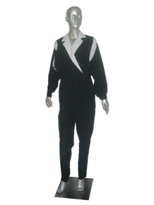 Vintage Eve's Geaves Black White Color Block Parachute Lightweight Jumpsuit