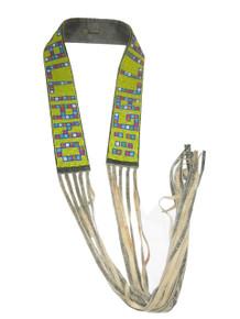 CSO Vintage Designer John Galliano  Multi-Color Beaded Boho Ethnic Distressed Leather Fringe Belt
