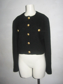 Vintage United Colors Of Benetton Black Gold Buttons Cropped Jacket