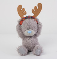 "4"" Me to You Bear with Reindeer Antlers"