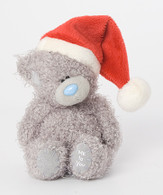 "4"" Me to You Bear with Christmas Santa Hat"