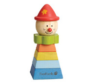 Pyramid Stacking Clown Red Hat EverEarth