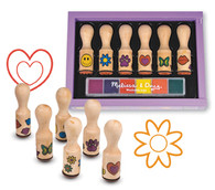 Melissa & Doug Happy Handle 6 Colour Stamp Set  aged at 4+