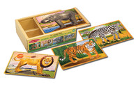 Melissa and Doug Wooden Jigsaw Puzzle in a Box Wild Animals