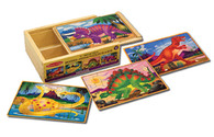 Melissa and Doug Dinosaurs Wooden Jigsaw Puzzle in a Box