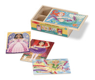 Melissa and Doug Fanciful Friends Wooden Jigsaw Puzzle in a Box