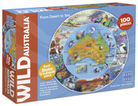 Wild Australia Desert to Sea 100 piece jigsaw puzzle Blue Opal