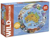 Wild Australia Desert to Sea 100 piece jigsaw puzzle Blue Opal