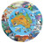 Wild Australia Desert to Sea 100 piece jigsaw puzzle Blue Opal Finished round puzzle