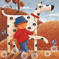Walking the Dog - Animal Card - Peter Adderley