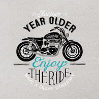 Enjoy the RIde Motor Bike Happy Birthday Card -  Hotchpotch London