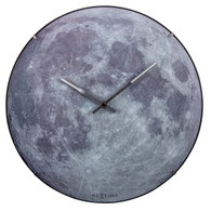 Nextime Blue Moon Dome Glow in the Dark 35cm Wall Clock Front Day