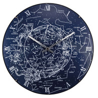 Nextime Milky Way Dome Glow in the Dark 35cm Wall Clock Front view Day