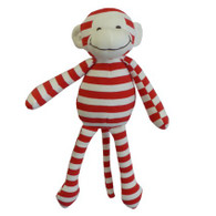 ROSA STRIPE JERSEY MONKEY RED 32CM