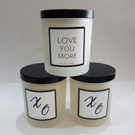 Love Soy Candle - Frosted Oxford with Black Lid
