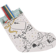 Colour Your Own Christmas Stocking - Snowman - Name Tag