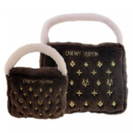Purse Dog Toy | Chewy Vuiton Brown
