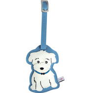 Maltese Boy Luggage Tag