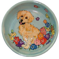 Golden Retriever Dog Bowl
