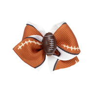 Football Dog Hair Bow