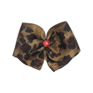 Leopard Dog Hair Bow