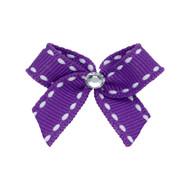 Mini Lilac Dog Hair Bow