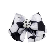 Soccer Dog Hair Bow