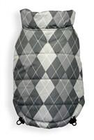 Reversible Silver Argyle Dog Coat