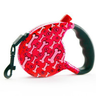 Retractable Leash | Cosmic Bones | Red