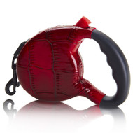 Retractable Leash | Red Croc