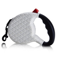 Retractable Dog Leash   White Quilted