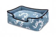 Lounge Bed | Bamboo Ocean Blue & Gothic Black