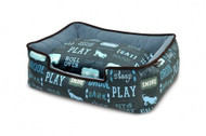 Lounge Bed | A Dog's Life Blue & Ash Gray