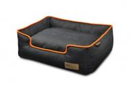 Lounge Bed | Urban Denim Blue & Mandarin