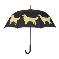 Golden Retriever Silhouette Umbrella