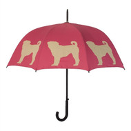 Pug Silhouette Umbrella