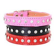 Madison & Maxwell 1 Row Crystal Dog Collars