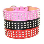 Madison & Maxwell 3 Row Crystal Dog Collars