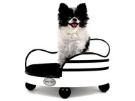 House of Smucci Dog Bed | B&W Stripe