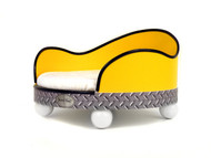 House of Smucci Dog Bed | Yellow Truck