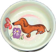 Dashshund Dog Bowl