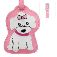 Maltese Girl Luggage Tag