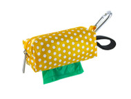 Duffel Dog Waste Bag Holder | Yellow Dots