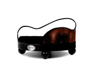 House of Smucci Dog Bed | Chocolate Leather Sofa