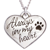 Always In My Heart Sterling Silver Necklace