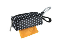 Duffel Dog Waste Bag Holder | Black Dots